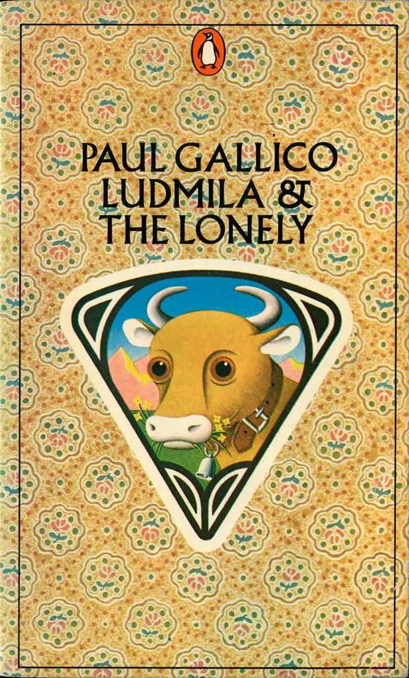 Meeuwissen illustration for Penguin Paul Gallico book showing cow and pattern