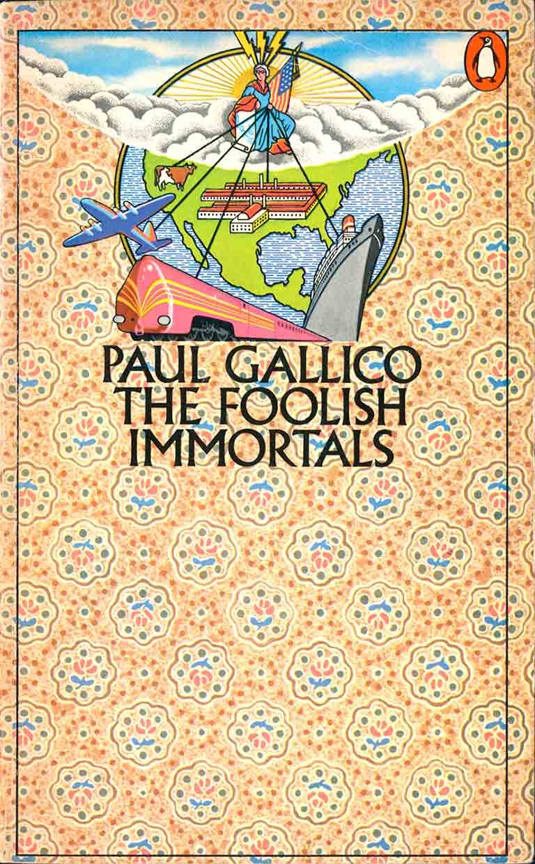 Meeuwissen illustration for Penguin Paul Gallico book showing pattern and travel designs
