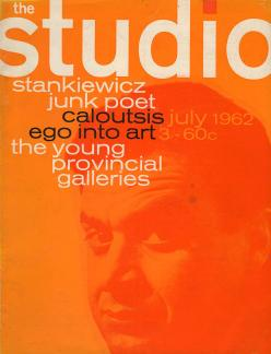 Studio magazine cover design in 1960s