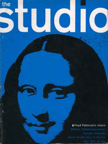 The Studio magazine 1960s with modernist graphics by David Pelham