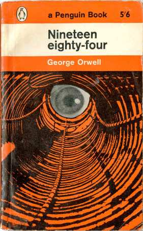 Orwell's 1984 for 1963 Penguin book with illustration by Germano Facetti
