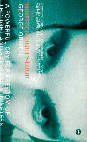 Orwell's 1984 Penguin Essential 1998 grunge style cover art
