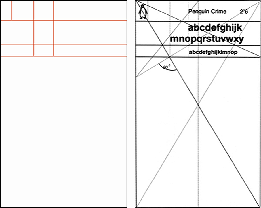 Designs showing two versions of the completed Marber grid