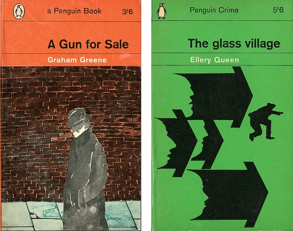 two 1960s Penguins showing application of Marber grid