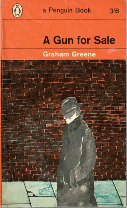 cover of Graham Greene Penguin book showing lonely man on footpath